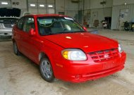 2005 HYUNDAI ACCENT GS #1332852961